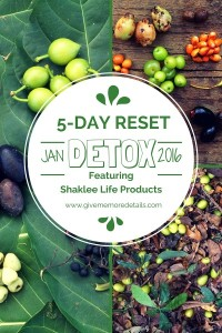 5-Day Reset Jan 2016