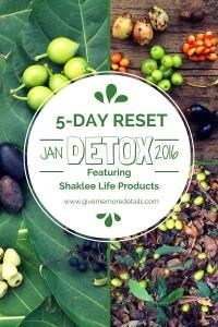 5-Day Reset Jan 2016